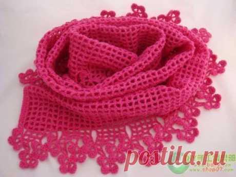 Ажурные шарфики. подборка схем