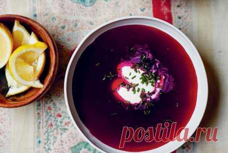 Летний борщ со сметаной и зеленым луком рецепт – узбекская кухня: супы. «Еда»