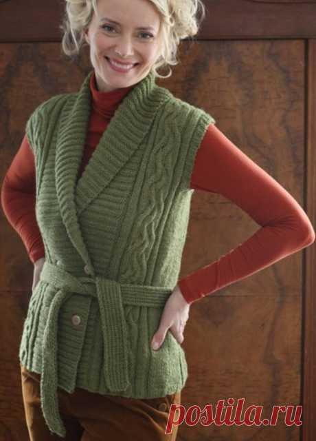 Хорошая подборка вязаных жилетов.🌺 | Asha. Вязание и дизайн.🌶 | Яндекс Дзен