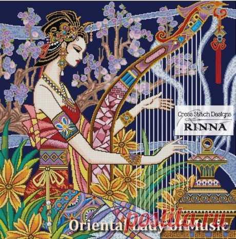 Восточный леди из Music a прекрасный азиатский дизайн в крест | Etsy