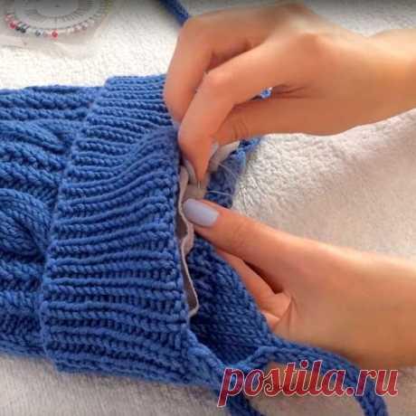Как сделать подклад к вязаной шапочке (Уроки и МК по ВЯЗАНИЮ) – Журнал Вдохновение Рукодельницы