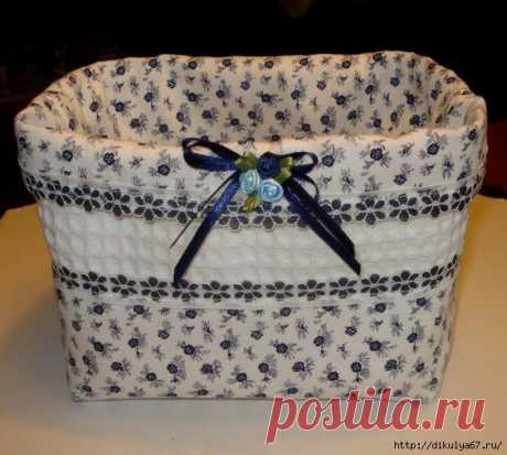 Fabric basket for storage of things. Ideas and video master classes