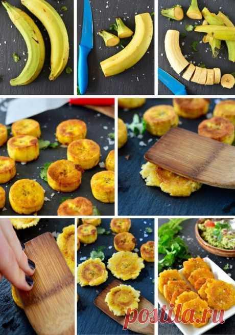 Plátanos crujientes en el mejor sándwich de carne