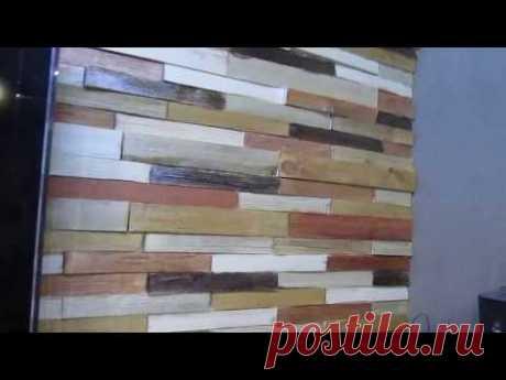 Декоры из дерева своими руками или как её называют 3д плитка из дерева - YouTube