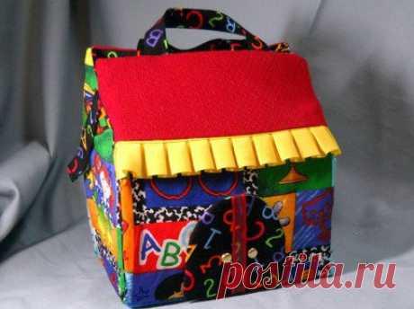 Текстильные домики - игрушки для малышей. Идеи / Необычные поделки