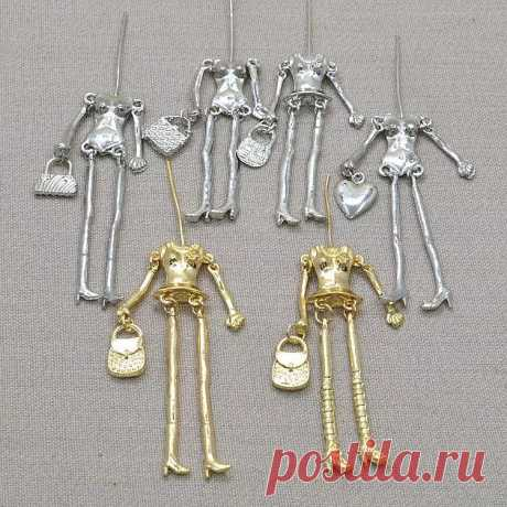 Модное ожерелье для куклы 10 шт./лот, фурнитура, детали, аксессуары, кукла, кулон, тело с руками и ногами, наряд своими руками|pendant lot|diy pendantnecklace pendant lot | АлиЭкспресс