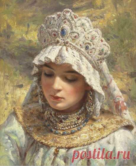 Художник Константин Егорович Маковский (1839-1915). Русская красавица