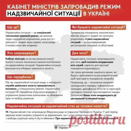 Кабинет министров ввел чрезвычайную ситуацию во всей Украине и продолжил карантин до 24 апреля