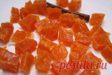 Желейные конфеты из тыквы Ингредиенты:  Тыква очищенная - 1кг. Сахар - 1 кг. Вода - 4 стакана.