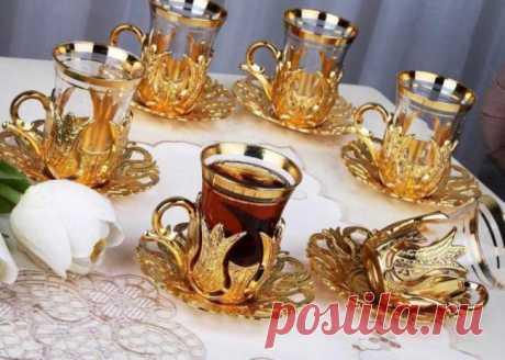 Армуды - турецкие стаканы для чая, как пить чай из армуд