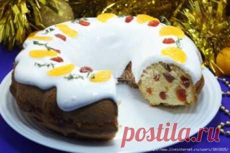 Рождественский кекс с вяленой вишней - он непременно соберёт за столом всех ваших друзей и близких.