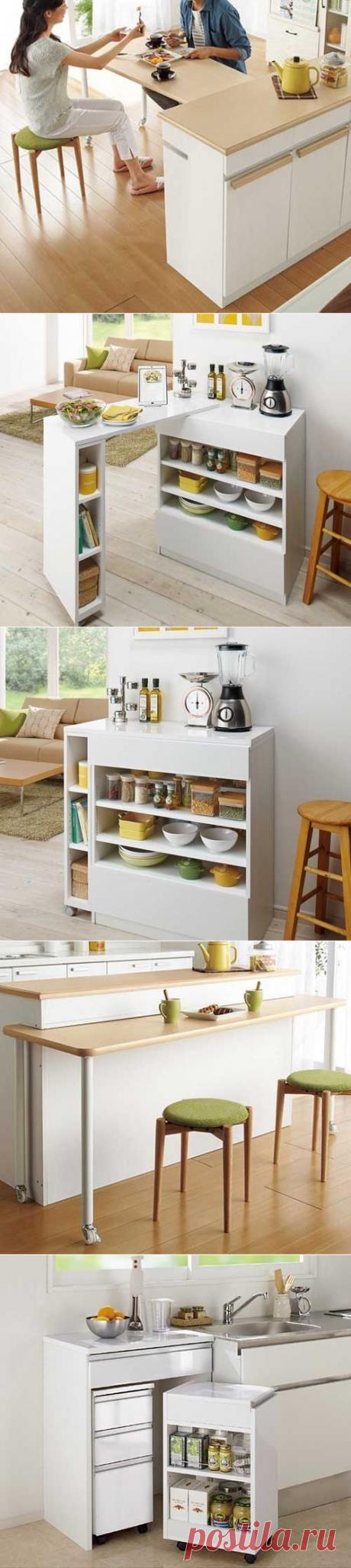 Удобный кухонный стол-трансформер