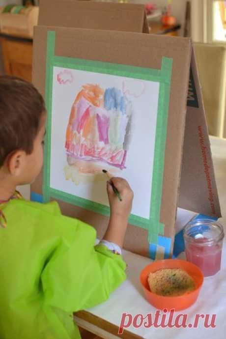 Как сделать мольберт для юного художника за 10 минут