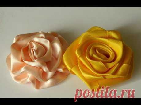 2 способа как быстро сделать розу из ленты