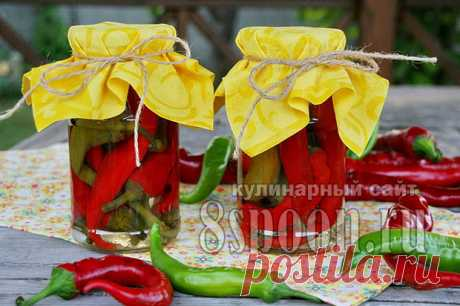 """Pickled hot pepper for the winter \""""Snack\"""" 