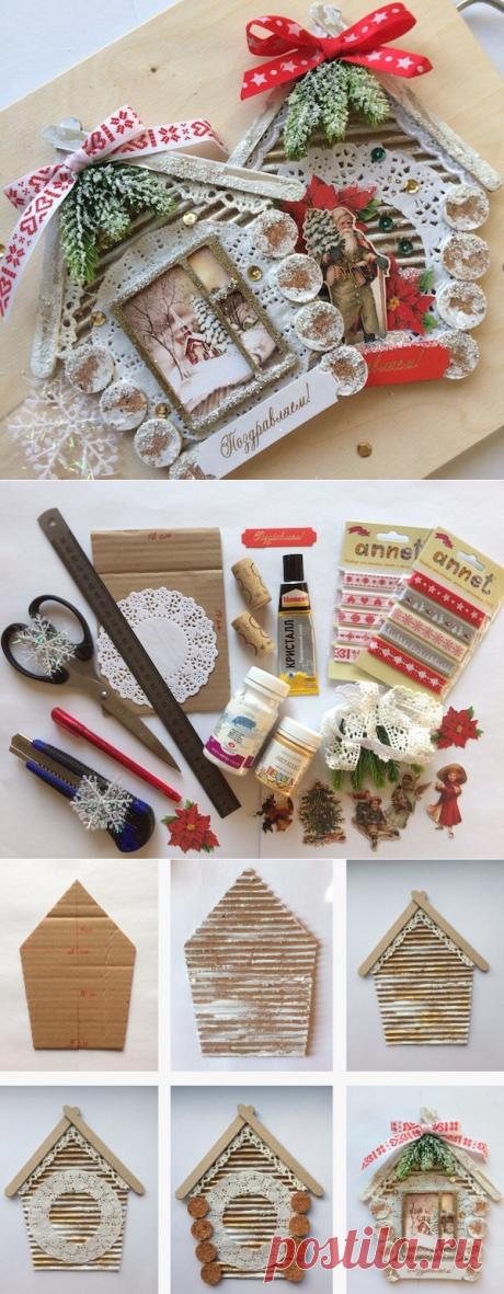 Мастер-класс по изготовлению новогодней открытки — Сделай сам, идеи для творчества - DIY Ideas