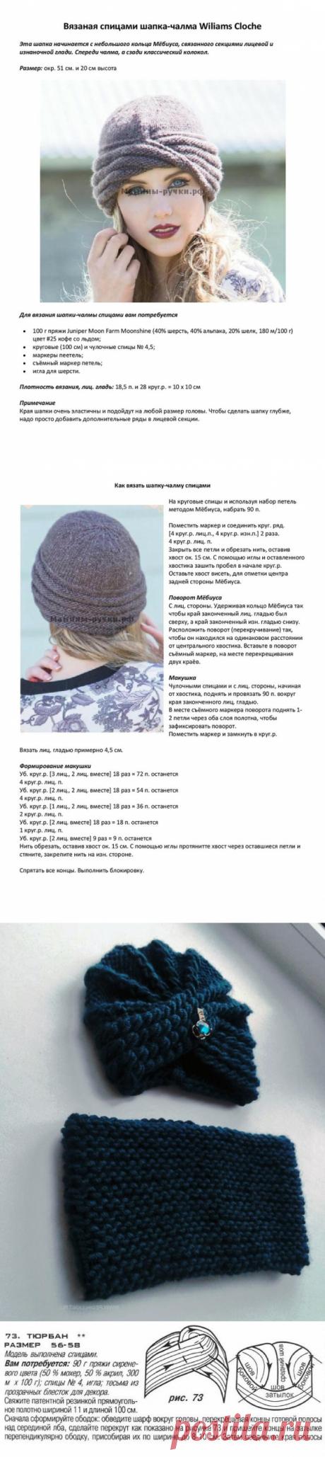 Подборка шапок ЧАЛМА ( описание и схемы) | Вяжем интересные проекты | Яндекс Дзен