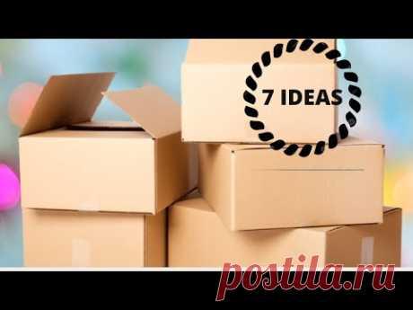 MANUALIDADES DE CAJAS DE CARTÓN | 7 FORMAS DE RECICLAR CAJAS DE CARTÓN /CAJAS DE CARTÓN MANUALIDADES