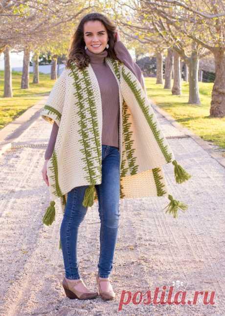 The Olivine Ruana - Free Crochet Pattern by Hopeful Honey
