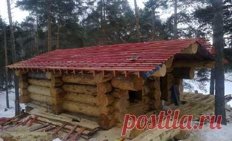Изготавливаем срубы домов и бань из большого диаметра.