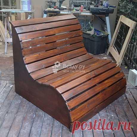 Необычная скамейка диванчик - фото