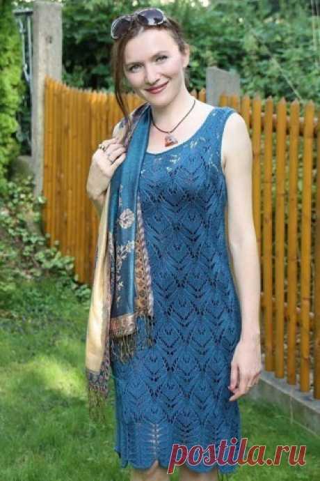 Летнее ажурное платье - запись пользователя МамаМарина (Марина Юрьевна) в сообществе Вязание спицами в категории Вязание для женщин спицами. Схемы вязания спицами