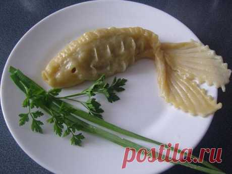 Как слепить манты в форме рыбки — Кулинарная книга - рецепты с фото