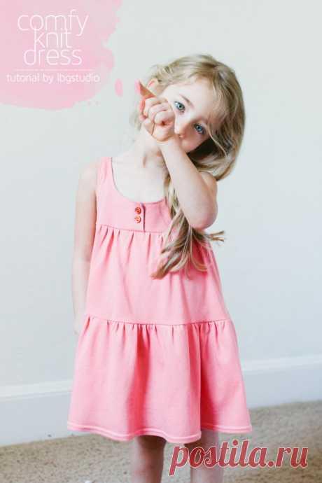 Замечательные платьица с лифом для девочек, выкройки прилагаются — Рукоделие