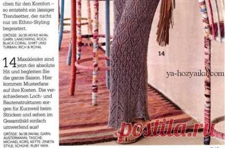 Платье красивым ажурным узором спицами. Как связать спицами длинное платье миди