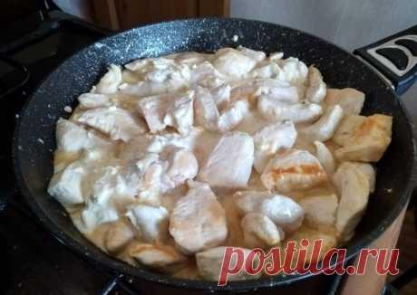 Куриное филе в сырно-сметанном соусе - пошаговый рецепт с фото. Автор рецепта Светлана Харитонова . - Cookpad