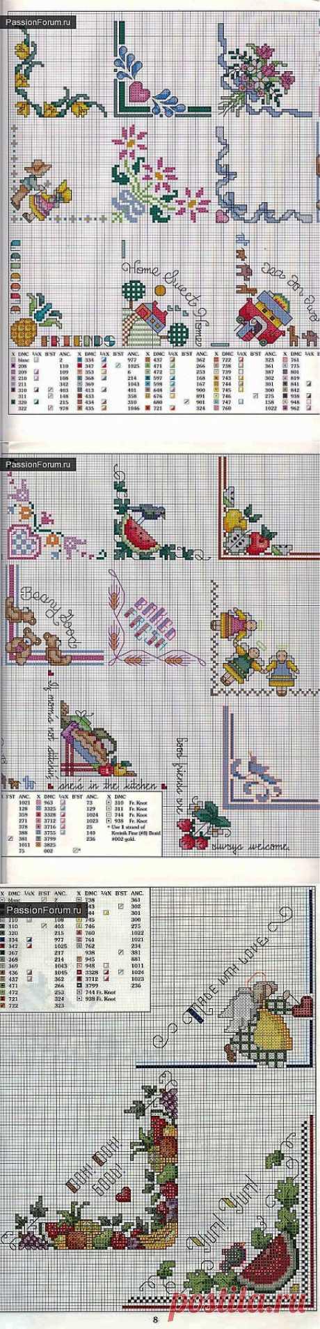 Уголки для салфеток / Вышивка крестиком / PassionForum - мастер-классы по рукоделию