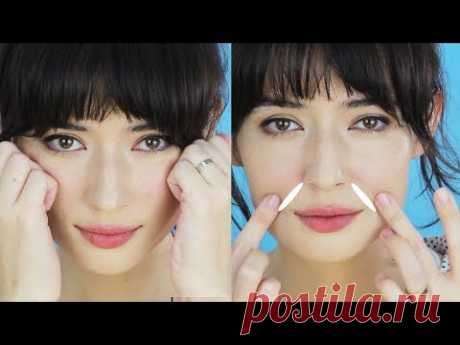 Lift SMILE LINES (nasolabial folds) with FACE MASSAGE