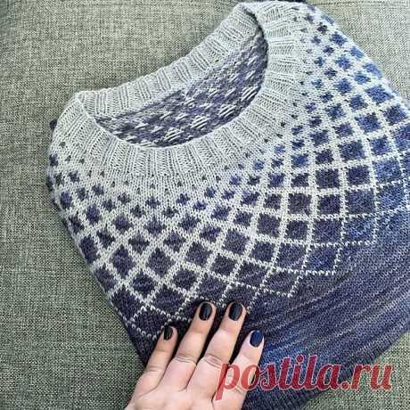 Самые красивые пуловеры с жаккардом на осень 2021   Копилка узоров (Вязание спицами)   Яндекс Дзен