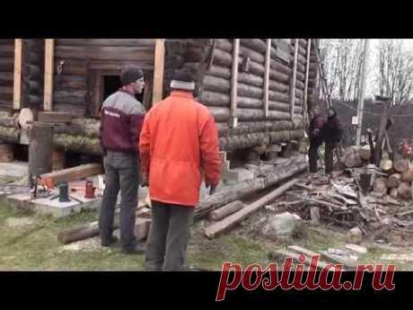Как заменить нижние венцы деревянного сруба бани и дома