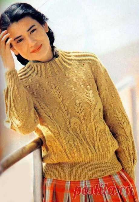 Свитер спицами  #свитер_спицами@mirpetel, #джемпер_женский@mirpetel  схема  Источник: https://www.liveinternet.ru/users/sofija330/post30680..