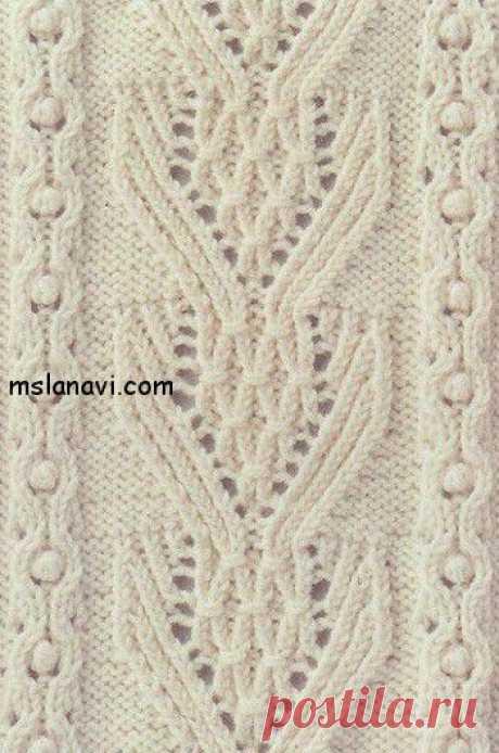 Рельефный узор спицами | Вяжем с Ланой