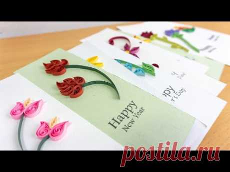 10 Coolest Greeting Cards: Paper Quilling Designs for Beginners