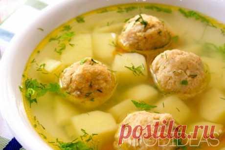 Суп с рыбными фрикадельками - рецепт приготовления с фото