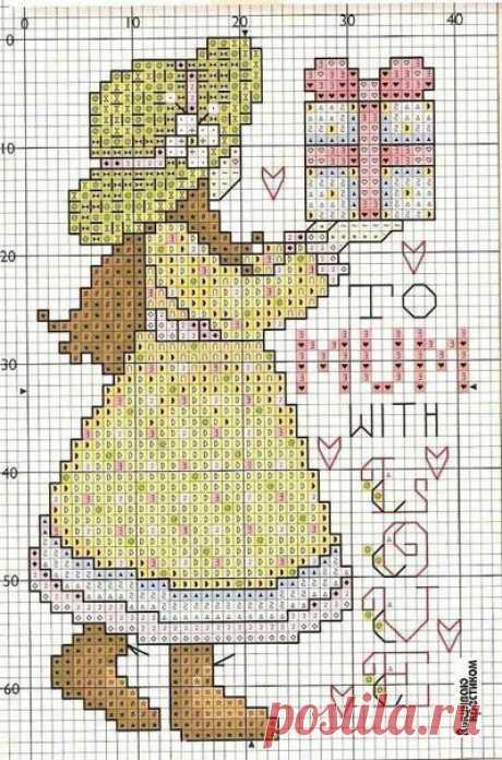 Для маленьких и больших девочек: схемы вышивания куколок крестиком и гладью | Рукоделие