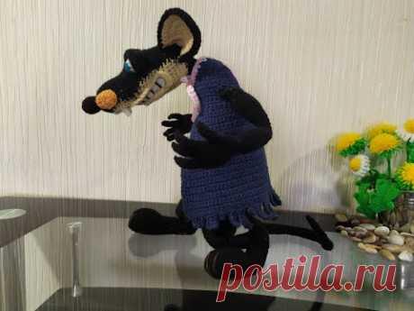 Крыса Шушара, ч.6. Rat Shushara, р.6. Amigurumi. Crochet. Вязать игрушки, амигуруми.