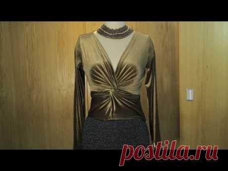 FiFi Style :Tutorial video - How to make a front twist top (Hướng dẫn may áo xoắn ngực)
