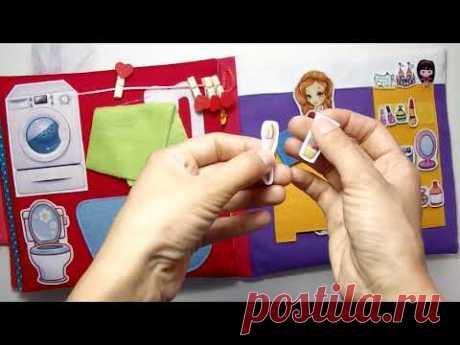 #Кукольныйдом для Аланы #9лет (#Симферополь #Крым ) #книгадомик #quietbook #кукольнаяминиатюра