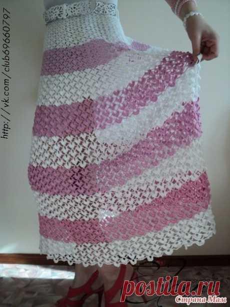Симпатичная юбка крючком