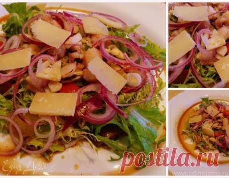 La ensalada fácil con los mariscos. Los ingredientes: el coctel de mar, la mezcla de ensalada, parmezan | el Sitio oficial de las recetas de cocina de Julia Vysotsky
