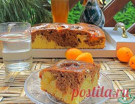 Двухцветный пирог с абрикосами – кулинарный рецепт