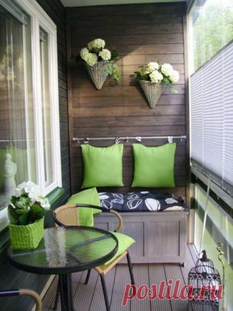 Несколько классных идей для обустройства балкона или лоджии