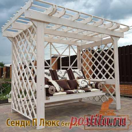 Перголы из дерева для дачи и сада от производителя