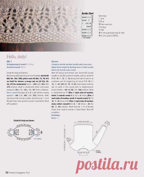 Обзор джемперов с круглой кокеткой + мастер-класс стильного узора. | Asha. Вязание и дизайн.🌶 | Яндекс Дзен