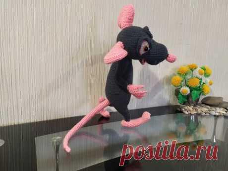 "Крыс Ремми из ""Рататуй"", ч.5. Ratmy Remy from Ratatouille, р.5. Вязать игрушки, амигуруми."