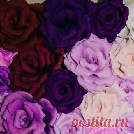 Гигантские цветы из бумаги: мастер-класс.